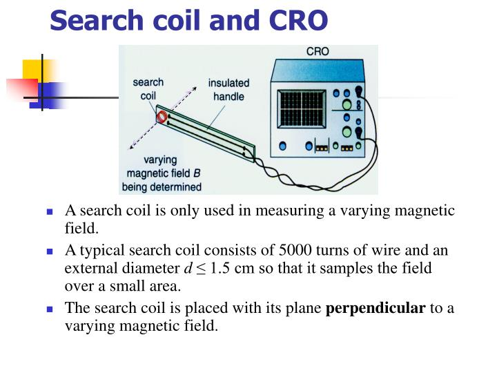 Search coil and CRO