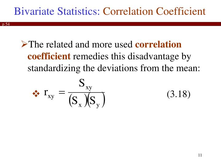 Bivariate Statistics:
