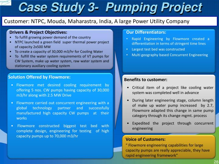 Case Study 3-  Pumping Project