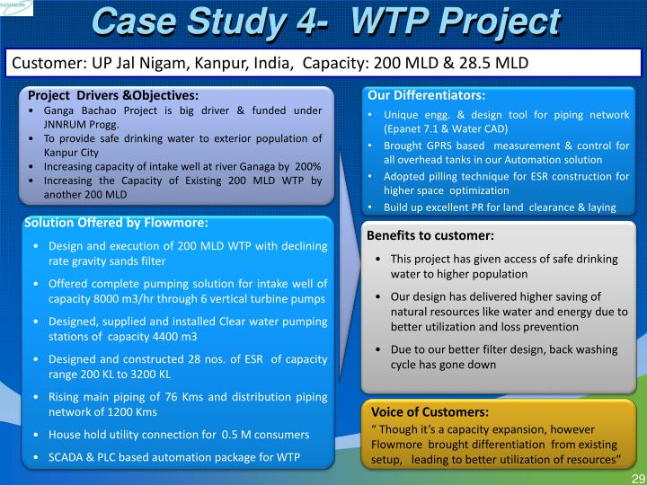 Case Study 4-  WTP Project