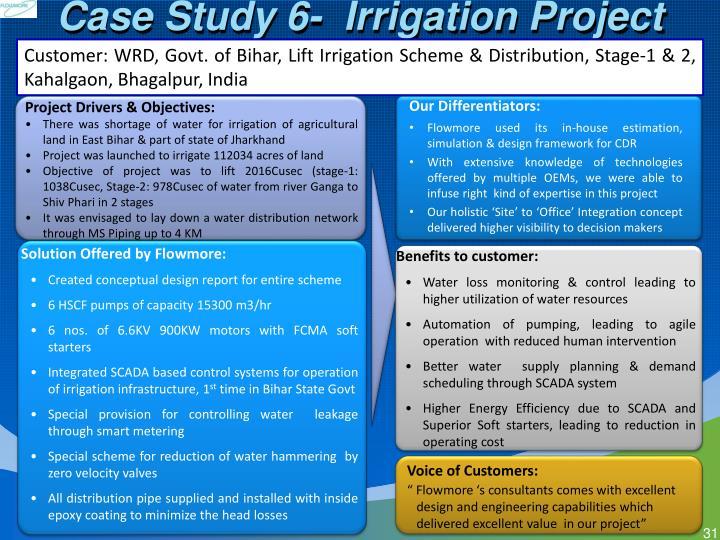 Case Study 6-  Irrigation Project