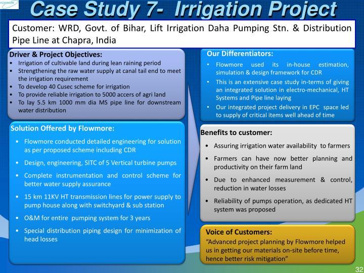 Case Study 7-  Irrigation Project