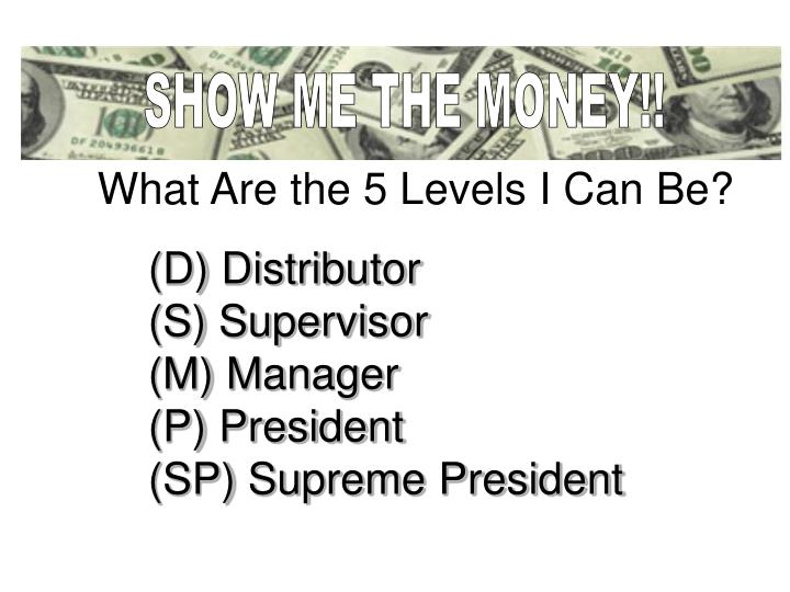 SHOW ME THE MONEY!!