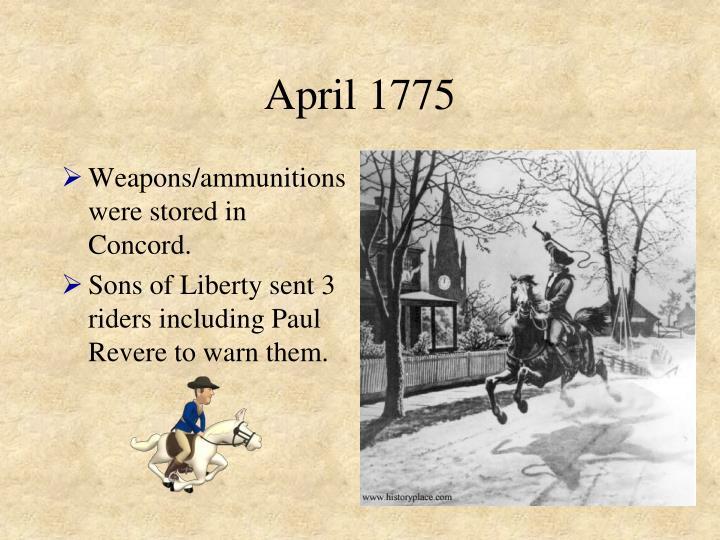 April 1775