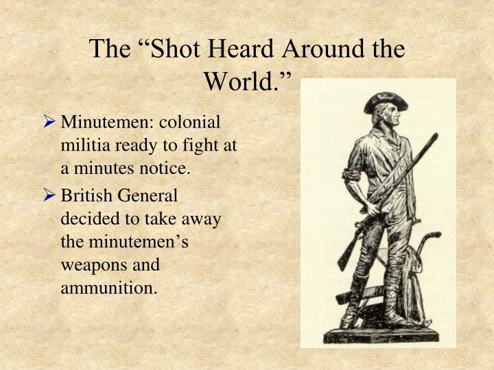 """The """"Shot Heard Around the World."""""""
