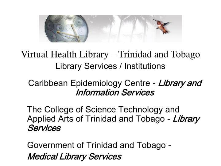 Virtual Health Library – Trinidad and Tobago