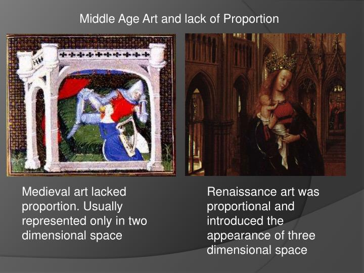 Middle Age Art and lack of Proportion