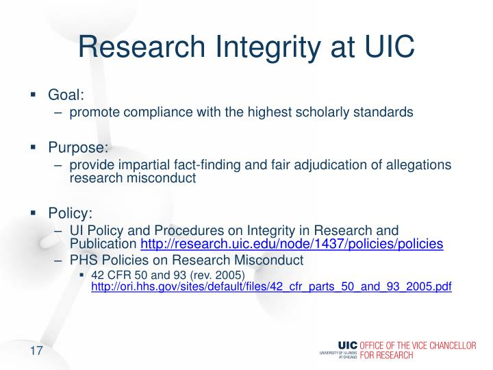 Research Integrity at UIC