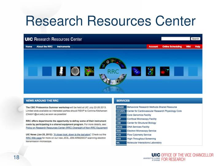 Research Resources Center