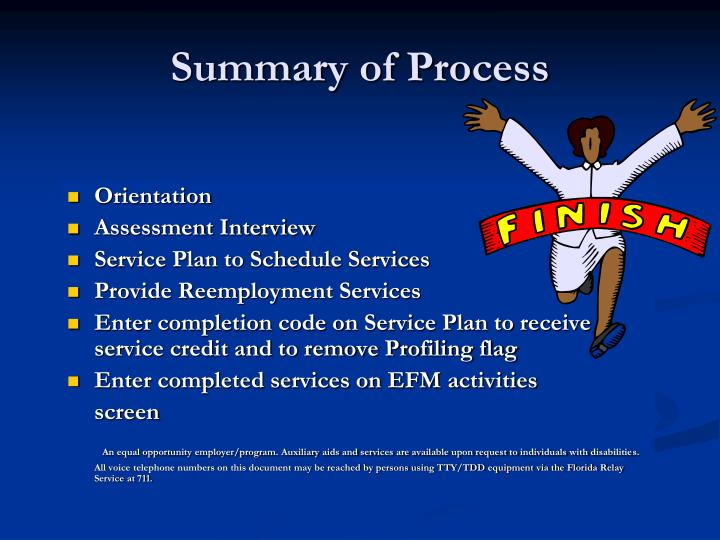 Summary of Process