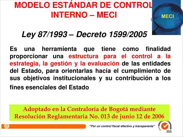 MODELO ESTÁNDAR DE CONTROL INTERNO – MECI