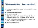 what does the qtr 1 forecast tell us