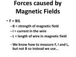 forces caused by magnetic fields2