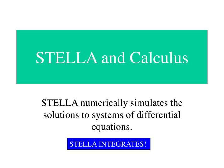 stella and calculus n.