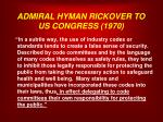 admiral hyman rickover to us congress 19701