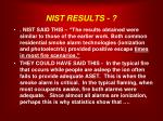 nist results