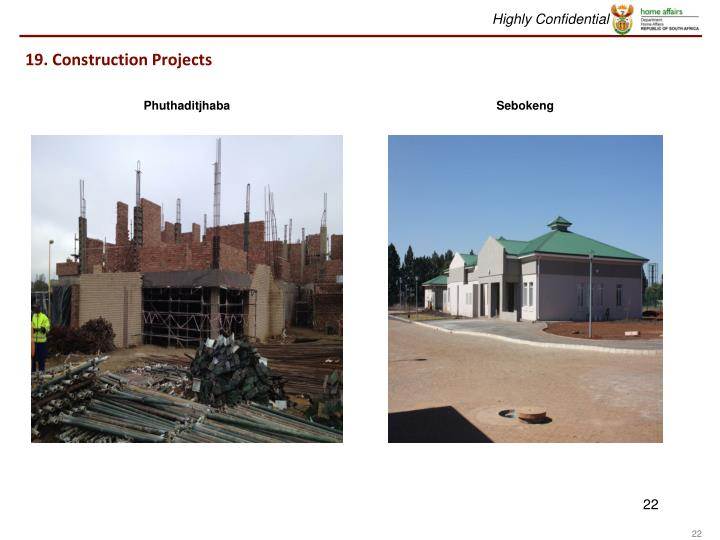 19. Construction Projects