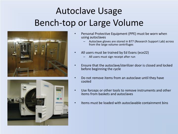 Autoclave Usage