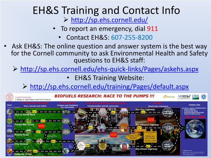 EH&S Training and Contact Info