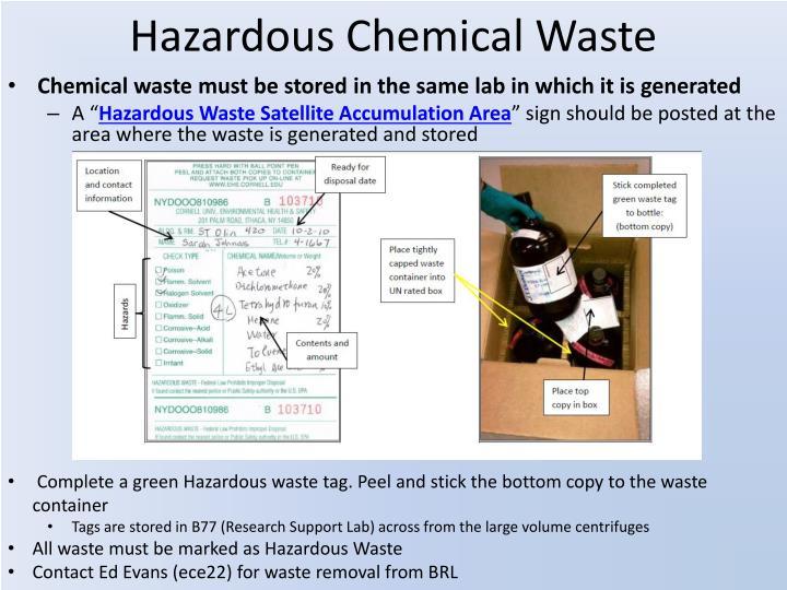 Hazardous Chemical Waste