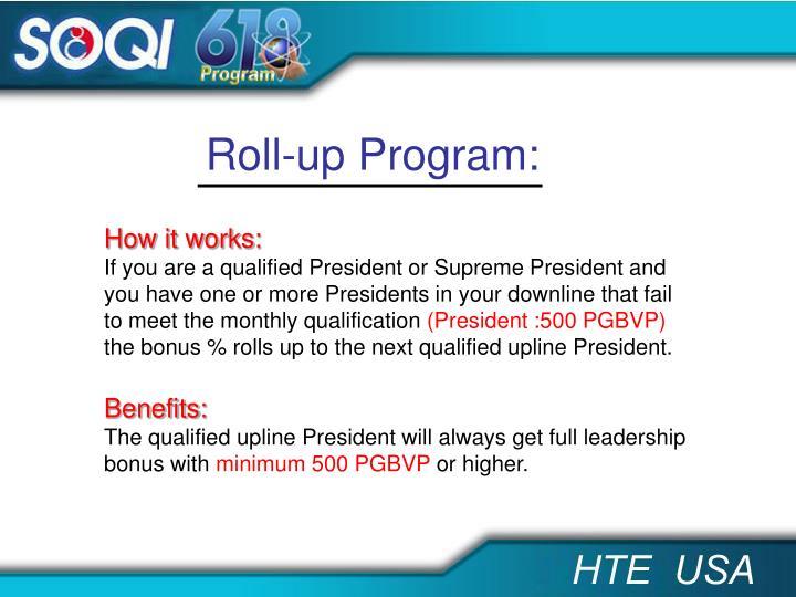 Roll-up Program: