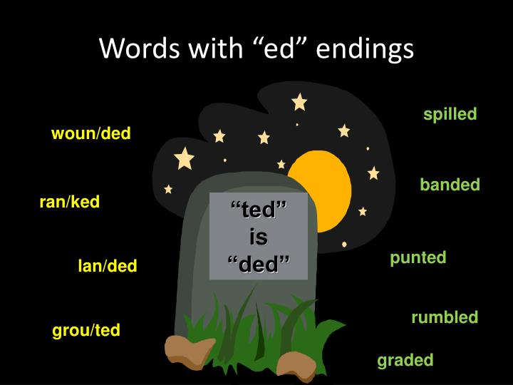 "Words with ""ed"" endings"