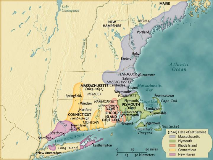 European Settlement in New England, ca. 1640 • pg. 67