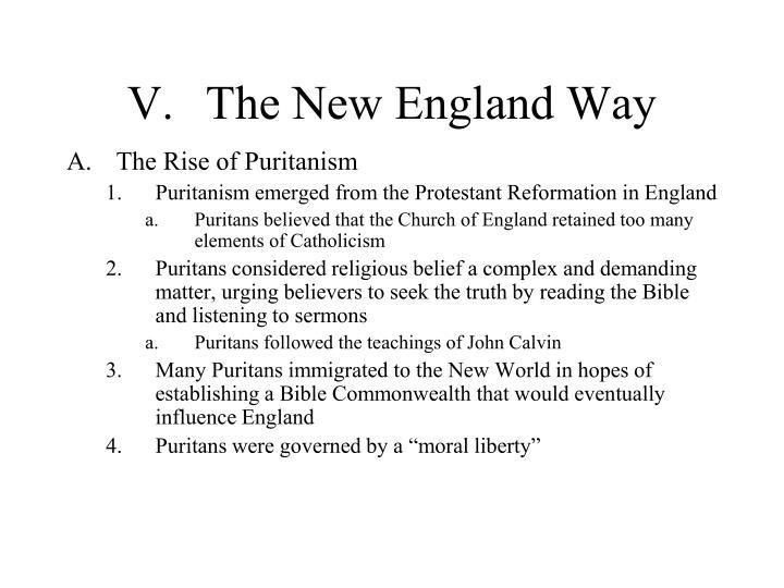 V.The New England Way