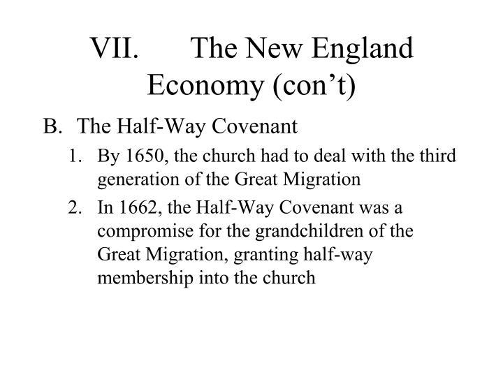 VII.The New England Economy (con't)