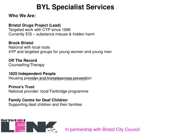 BYL Specialist Services