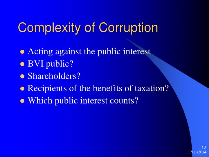 Complexity of Corruption