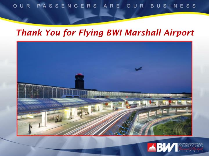 Thank You for Flying BWI Marshall Airport