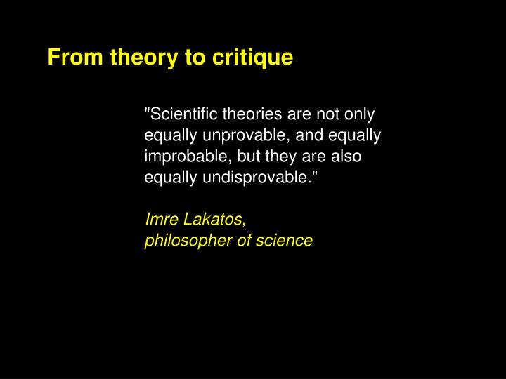 From theory to critique