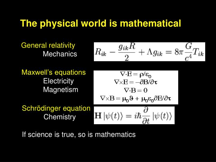 The physical world is mathematical