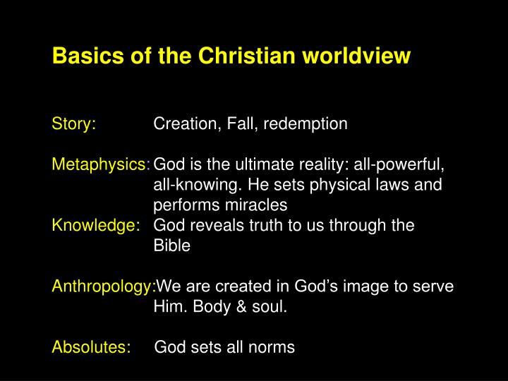 Basics of the Christian worldview