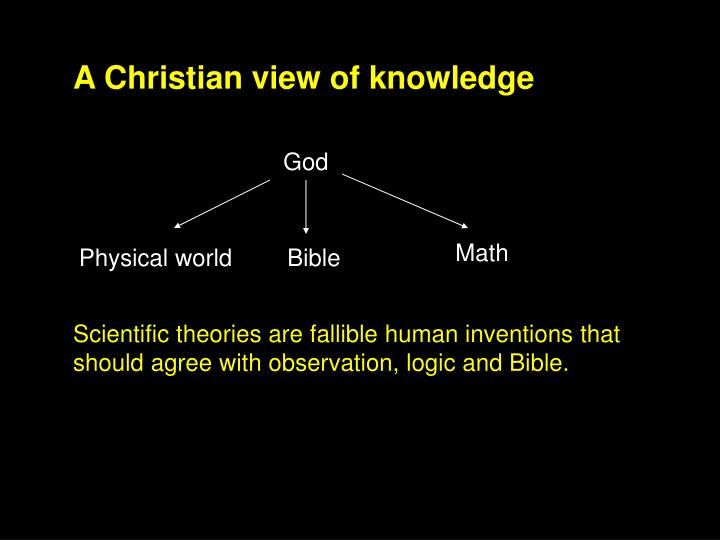 A Christian view of knowledge