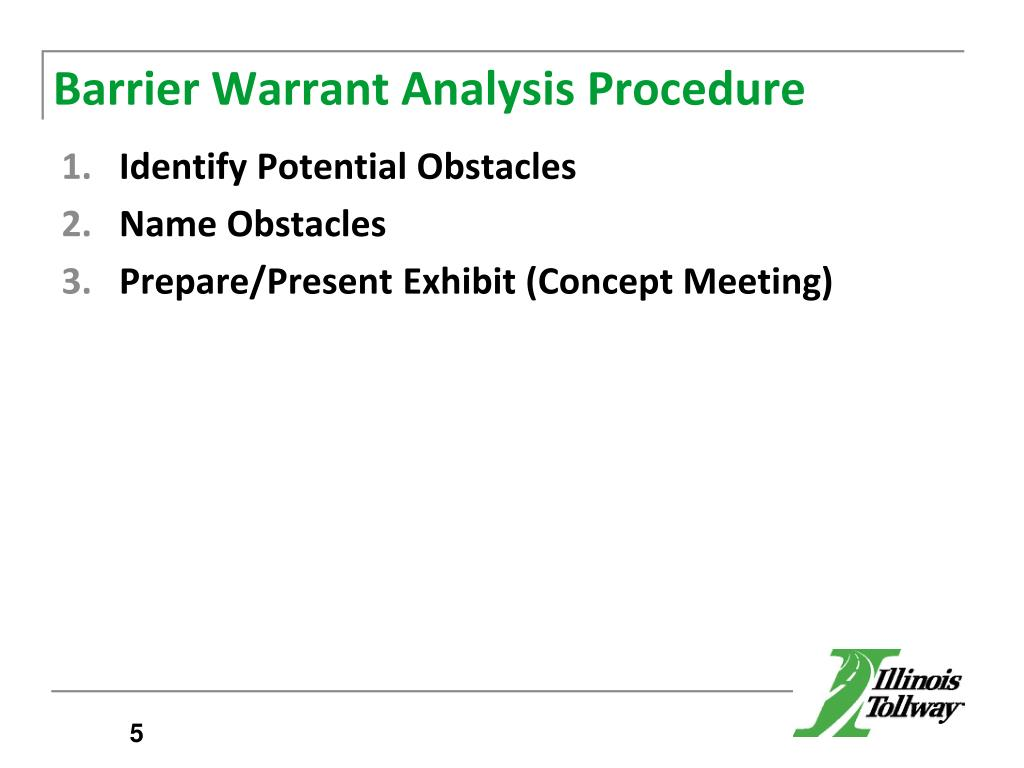 PPT - Traffic Barrier Guidelines Barrier Warrant Analysis