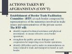 actions taken by afghanistan con t5