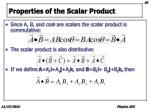 properties of the scalar product