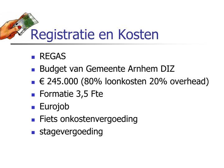 Registratie en Kosten