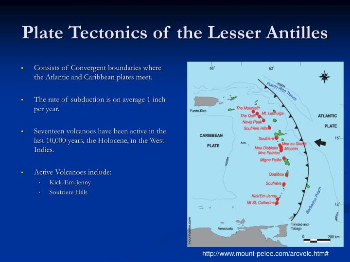Plate Tectonics of the Lesser Antilles