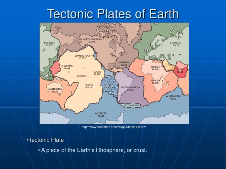 Tectonic plates of earth