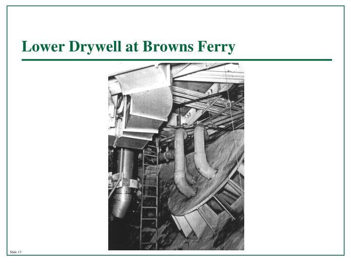 Lower Drywell at Browns Ferry