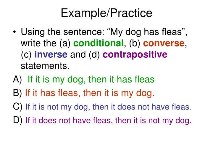 Example/Practice