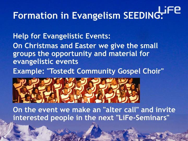Formation in Evangelism SEEDING: