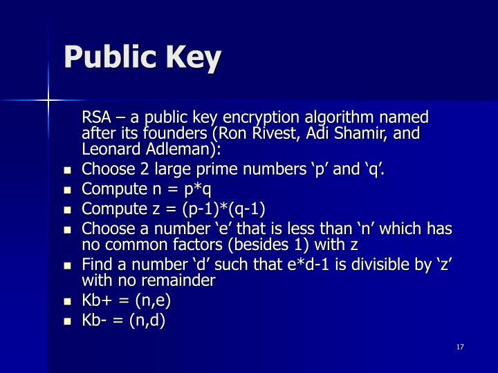 Public Key