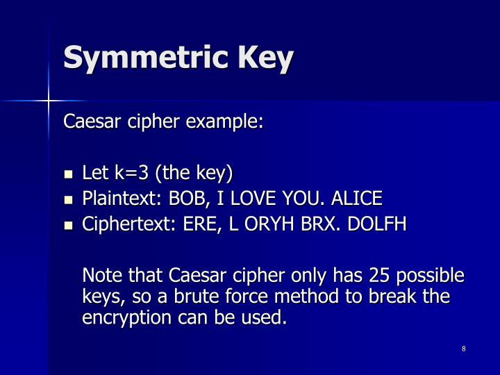 Symmetric Key