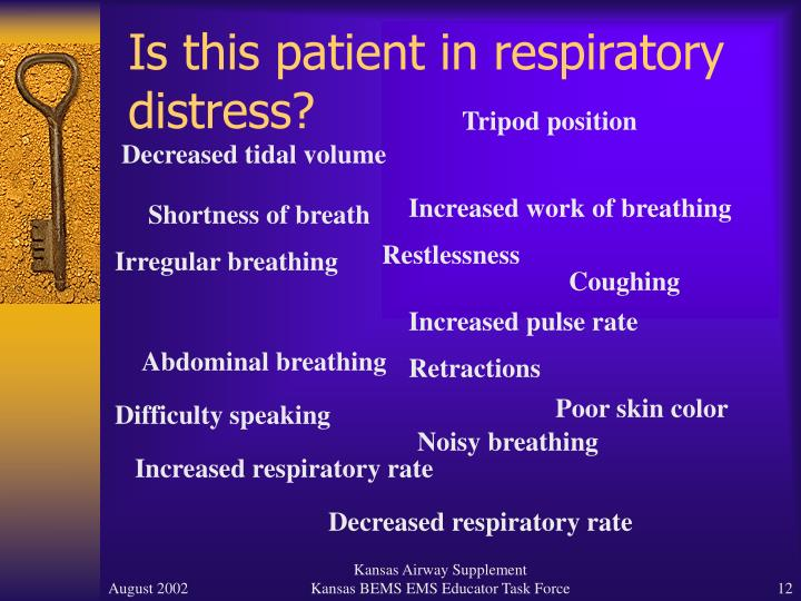 Is this patient in respiratory distress?