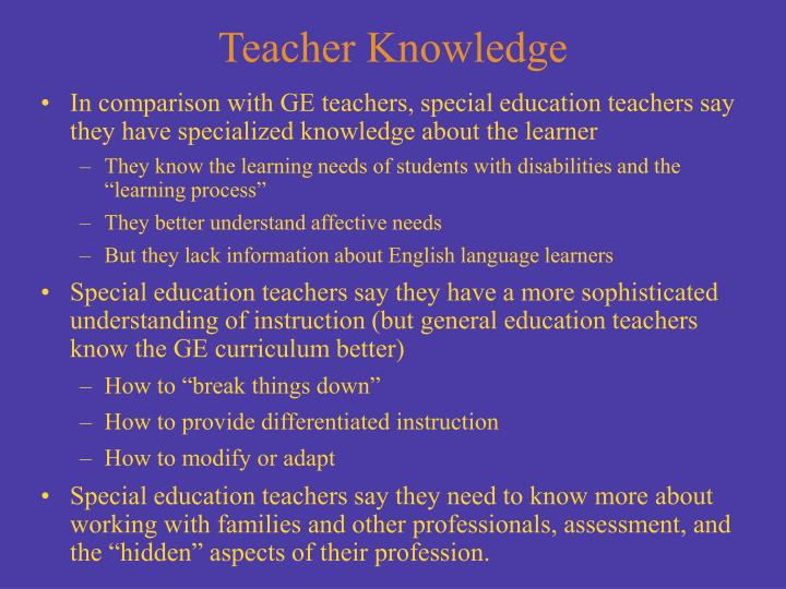 Teacher Knowledge