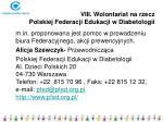 viii wolontariat na rzecz polskiej federacji edukacji w diabetologii
